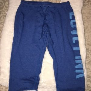 VS Pink Crop Light Sweat Pants Button Fly